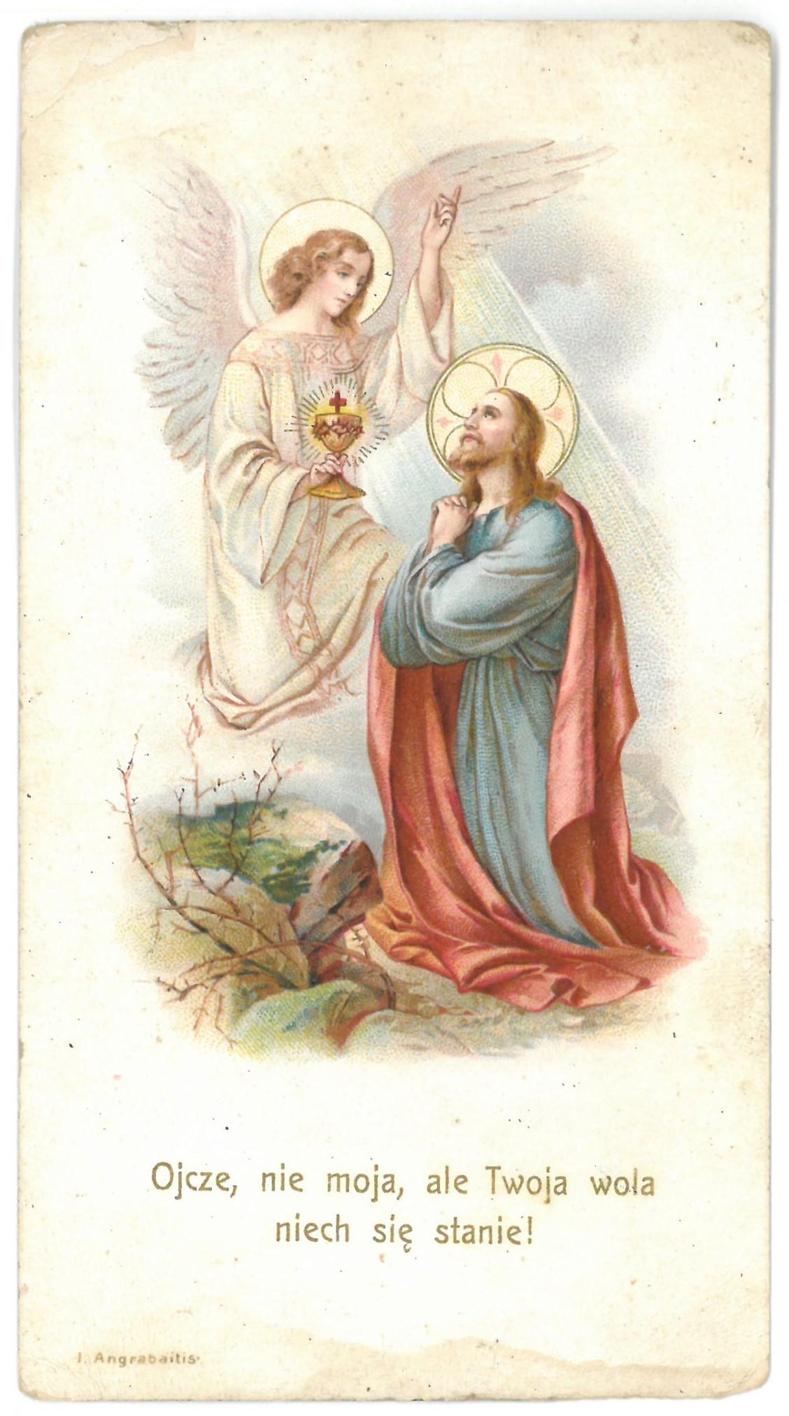 Religinis paveikslėlis. Jėzus Kristus meldžiasi