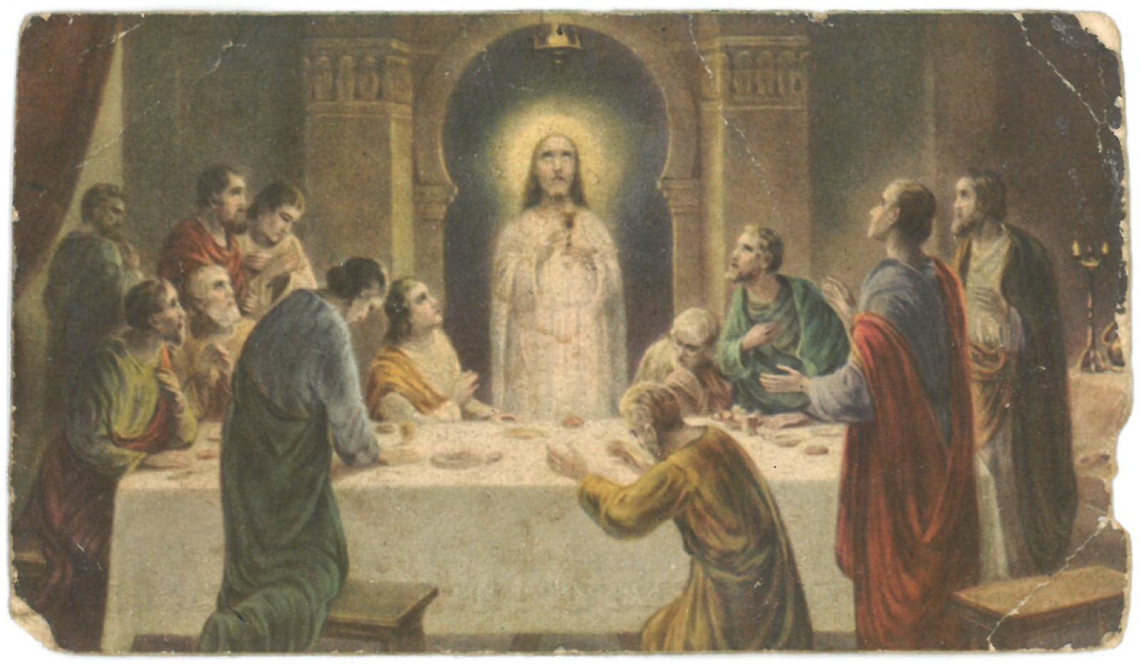 """Religinis paveikslėlis. """"Paskutinė vakarienė"""""""