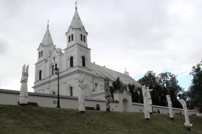 Pasvalio Šv. Jono Krikštytojo bažnyčia. Aidos Leimontaitės nuotrauka, 2019.