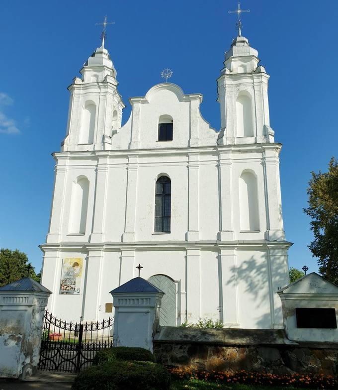 Krinčino Šv. apaštalų Petro ir Povilo bažnyčia. Tomos Mikalajūnaitės nuotrauka, 2019.