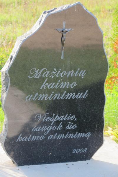 Paminklinis akmuo Mažionių kaimui atminti