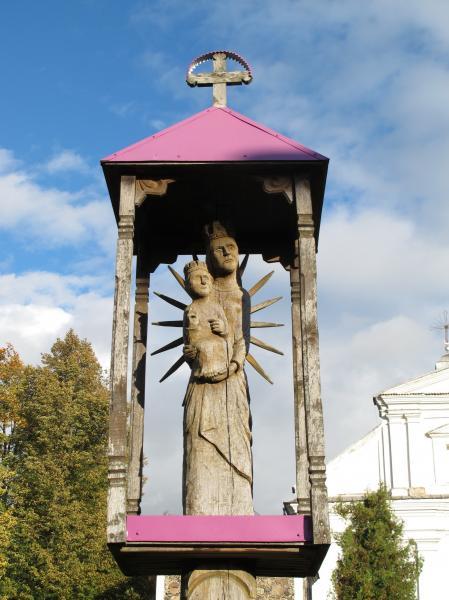 Skulptūra krikščionybės 2000 m. jubiliejui Pumpėnuose