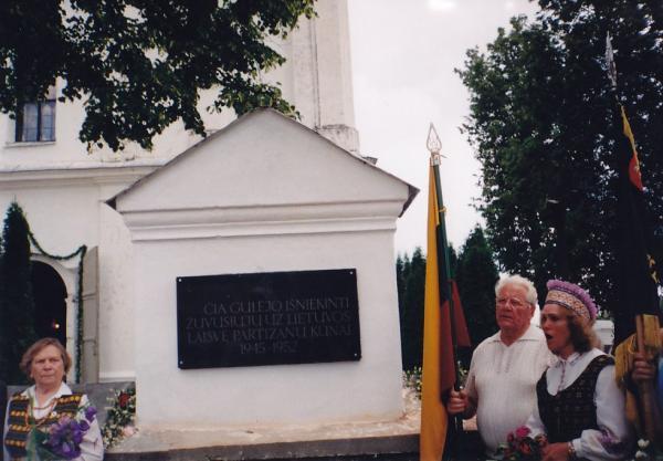 Atminimo lenta 1863 m. sukilėliams Krinčino miestelyje