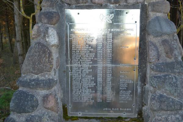 Paminklas kovotojams už Lietuvos laisvę Mikėnų kaime
