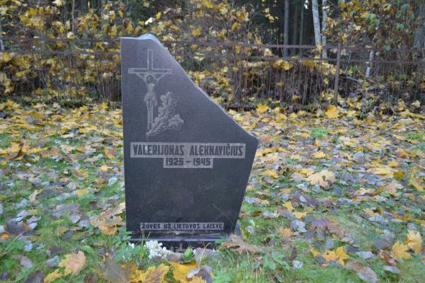 Valerijono Aleknavičiaus kapas Porijų kaimo kapinėse