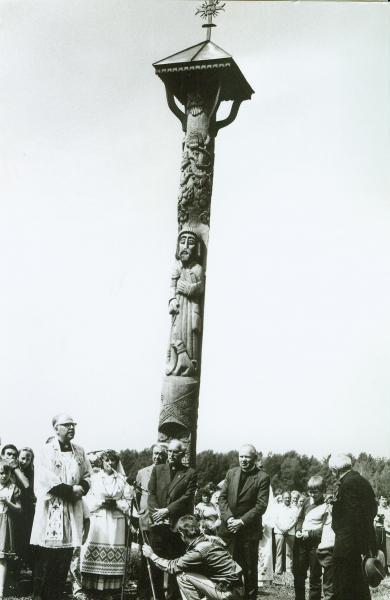 Stogastulpis poetui Bernardui Brazdžioniui Stebeikėliuose