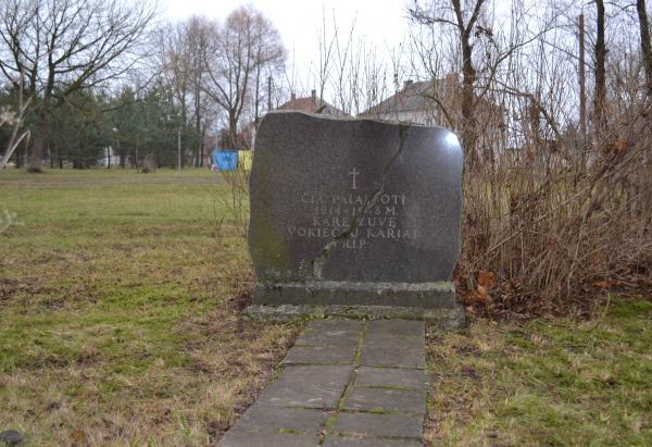 Antkapinis paminklas vokiečių kariams Joniškėlio miestelyje