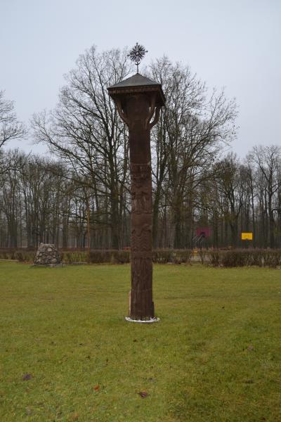 Stogastulpis, skirtas šeimoms Joniškėlio miestelio parke