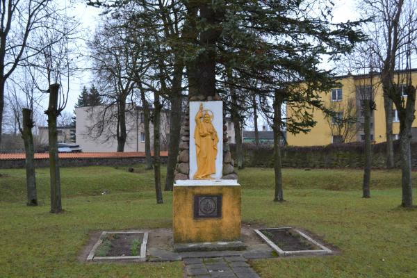 Paminklas 600 m. Lietuvos krikšto paminėjimui Joniškėlyje
