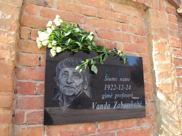 Atminimo lenta literatūrologei, profesorei Vandai Zaborskaitei