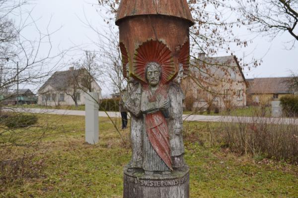 Kryžius-koplytstulpis Norgėlų kaimui