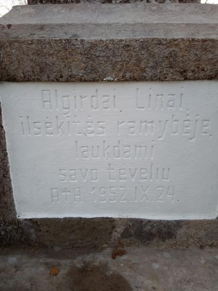 """Skulptūra """"Švč. Mergelė Marija"""" Paliepių kaimo kapinėse"""