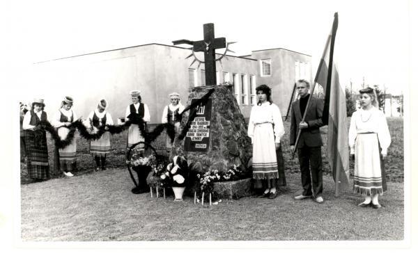 Kryžius nekaltai žuvusiems žmonėms Sibiro tremtyje Grūžių kaime