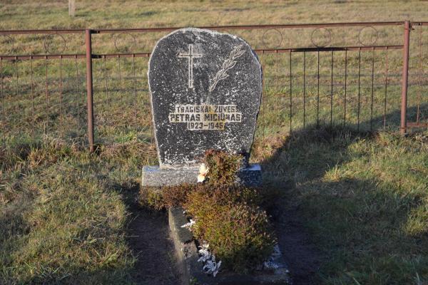Partizano Petro Miciūno kapas Vainekonių kapinėse