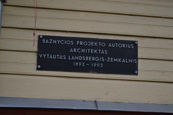 Atminimo lenta architektui Vytautui Landsbergiui-Žemkalniui Kyburiuose