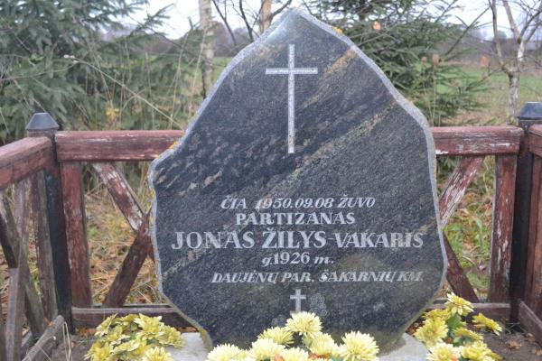 Paminklas partizanui Jonui Žiliui Daujėnų seniūnijoje