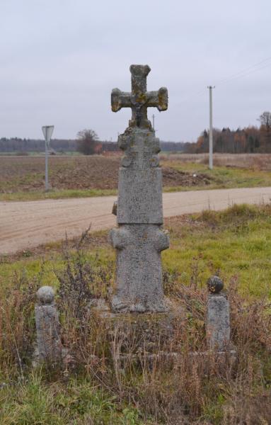 Kryžius prie sankryžos Moliūnai–Daujėnai–Januškai