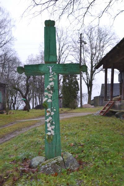 Kryžius Šivickų sodyboje, Šlamų kaime