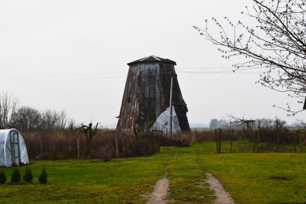 Pušaloto vėjo malūnas