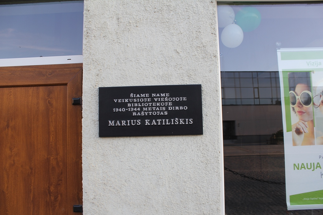 Atminimo lenta rašytojui Mariui Katiliškiui Pasvalyje