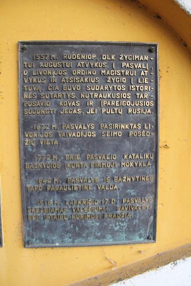 Pasvalio sutarties atminimo lentos Pasvalio mieste