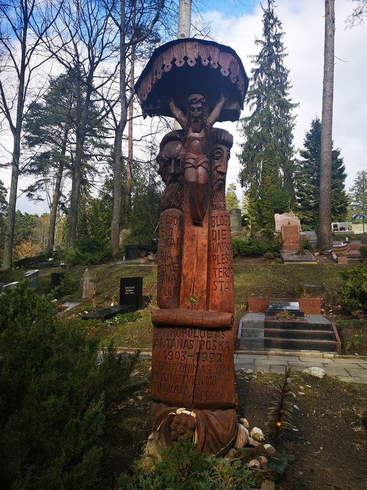 Stogastulpis keliautojui Antanui Poškai Gripkelių kaime