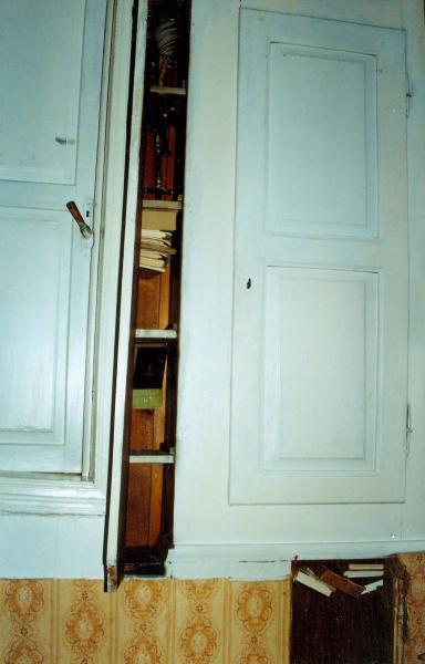 Lietuviškos spaudos slėptuvė namo viduje