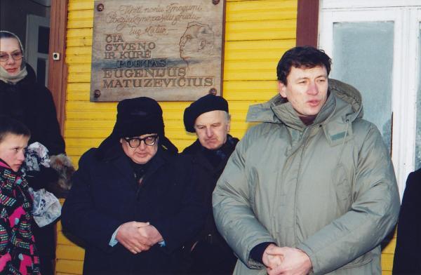 Atminimo lenta poetui Eugenijui Matuzevičiui Krinčine