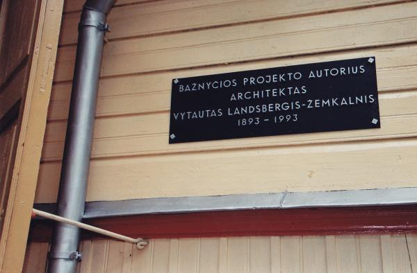 Atminimo lenta Vytautui Landsbergiui-Žemkalniui Kyburiuose