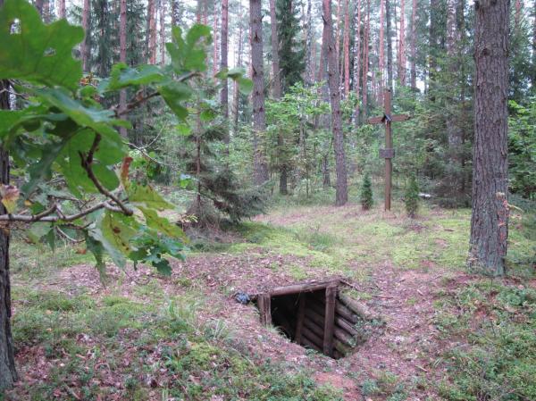 Partizanų bunkeris Žadeikiuose